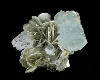 Aquamarine, muscovite - Pakistan