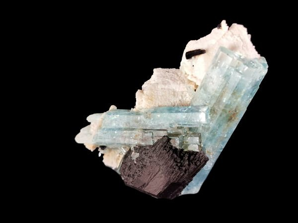 Aquamarine, schorl - Namibia, Erongo, Karibib region