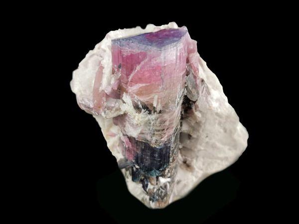 Tourmaline – rubellit, indigolite (BLUE CAP) - Mika pegmatite, Rangkul' Highlands, Gorno-Badakhshan, Tajikistan