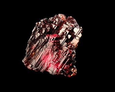 Garnet (spessartine) - Navegadora Mine (Navegador Mine; Orozimbo Mine), Minas Gerais, Brazil