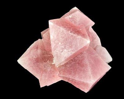 Růžový fluorit s inkluzemi byssolitu - Huanggang Nr. 1, Linxi, Vnitřní Mongolsko, Čína