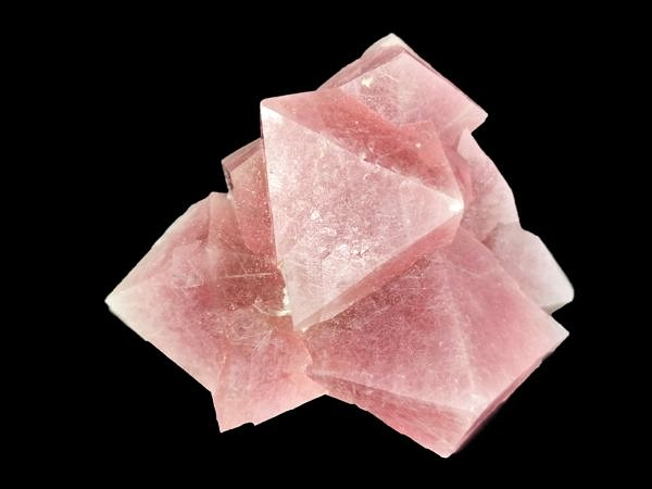 Pink fluorite with byssolite inclusions - Huanggang Nr. 1, Linxi, Inner Mongolia, China