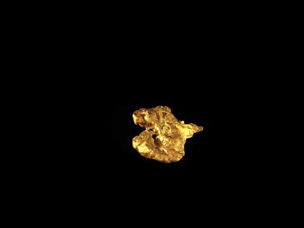 Zlato nuget - Přírodní nuget zlata ve tvaru srdce.