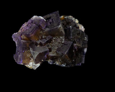 Violet fluorite - Cave-in-Rock, Hardin County, Illinois, USA